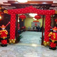 中式喜庆拱门--搭配财神