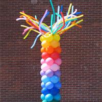 多彩气球立柱