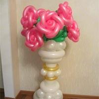 魔术气球玫瑰花660立柱