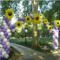 白紫色拱门--室外婚礼