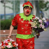 济南小丑送花