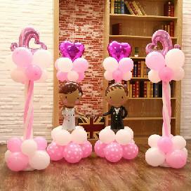 婚礼气球立柱