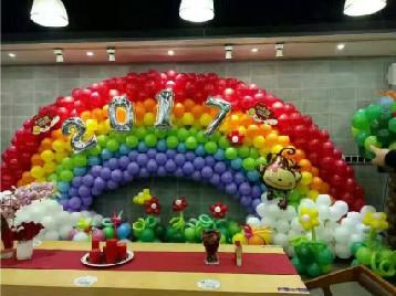 早教机构周年庆 活动气球拱门